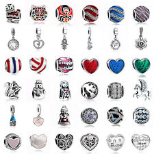 925 European Sterling Pedant Silver Charms Beads for Lot Bracelet Necklace AU29