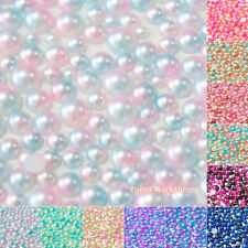 Ombre Colors 3-6mm Gradient Mermaid Flat Back Half Pearl Round Scrapbooking Nail