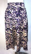 Magaschoni Silk Floral Broomstick Skirt Size 8