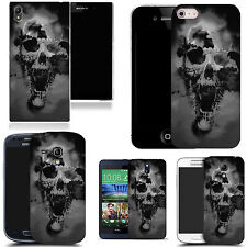 art case cover for various Mobile phones -  black holed skull silicone