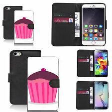 black pu leather wallet case cover for many Mobile phones - design ref zx0757