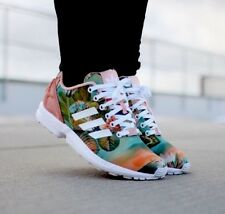ADIDAS ZX FLUX B25483 WOMEN'S RUNNING TRAINNING SHOES FLORAL  100% AUTHENTIC