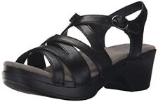 Dansko Women's Stevie Black Full Grain Wedge Sandal - Choose SZ/Color