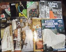 Vintage Crochet Knit AFGHAN Pattern Books Brunswick Columbia Minerva -YOU CHOOSE
