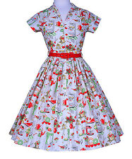 Bernie Dexter White & Red Kitchen - Print Kelly  Dress - Plus Too NWT