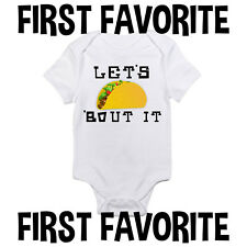 Baby Onesie Bodysuit Shirt Shower Gift Taco Funny Cute Infant Clothes Mom Gerber