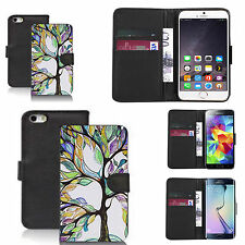 faux leather wallet case for many Mobile phones - multi bonsai