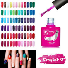 CRYSTAL-G CLASSIC UV LED SOAK OFF GEL NAIL POLISH + FREE CND SHELLAC KANGA FILE