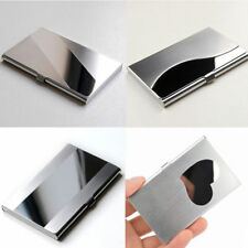 Business ID Credit Card Holder Silver Stainless Steel Wallet Pocket Box Case