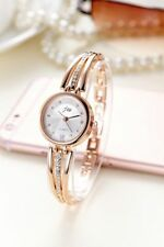 Fashion Women Lady Rhinestone Steel Strip Bangle Bracelet Quartz Wrist Watch P