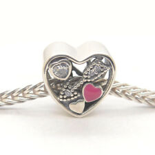 Authentic Genuine S925 Sterling Silver Love Struck Valentine's Day Charm Bead