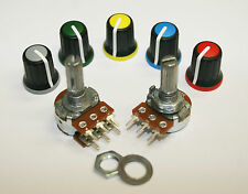 16mm Potentiometer 5K 10K 20K 50K 100K 200K 500K 1M Lin Log Mono Stereo or Knobs
