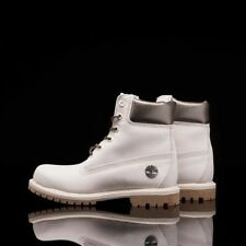 TIMBERLAND 6 INCH PREMIUM DOUBLE SOLE OFF WHITE NUBUCK SILVER WOMENS BOOTS A1JFW