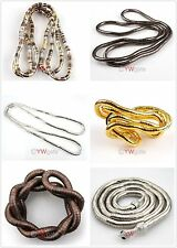 Luxury Flexible Mixed Bendy Snake Chains Bracelet or Necklace Soft Gift 90cm