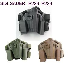 Tactical Drop Leg Holster Waist Paddle Belt Holster For SIG 220/228/229 P226