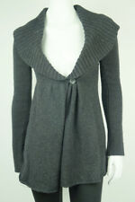 EUC$495 *VINCE* Gray CASHMERE BLEND Shawl Collar CARDIGAN SWEATER S 4 6