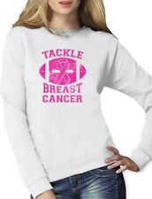Tackle Breast Cancer Pink Ribbon Support Awareness Women Sweatshirt Fight