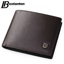 Mens Genuine Leather Wallet Bifold Short Money Credit Card Pocket Purse Clutch
