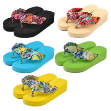 Women flip flops platform wedges sandals platform flip slippers beach shoes U7K6
