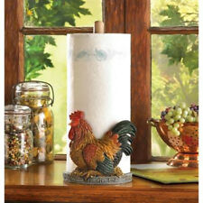 Cute Country Farm Rustic Style Rooster Chicken Paper Towel Holder NEW Home Decor
