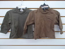 Infant, Toddler, & Boys 2 Pack Army Green or Brown L/S T-Shirt Size 0/6m - 6/7