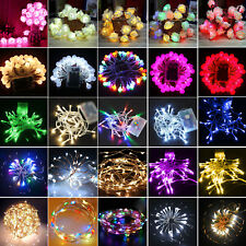 Battery Operated LED Fairy Light Wedding Party Outdoor Decor Curtain String Lamp