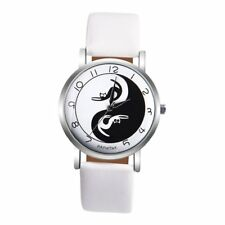 Cute Lady Women's Cat PU Leather Band Wristwatch Analog Quartz Wrist Watch Gifts