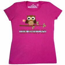 Inktastic 65th Birthday Look Whoos 65 Owl Women's T-Shirt Party Year Old Whos