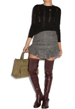"""SHOE DAZZLE FAUX LEATHER THIGH HIGH SKIN TIGHT 1.25"""" HEEL $55 SHIPS FREE"""