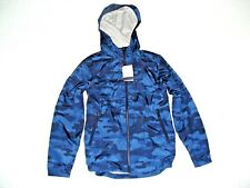 NWT GAP KIDS Boys Blue CAMOUFLAGE CAMO FALL SPRING Hooded COAT JACKET 12