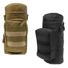 2 Pieces Tactical Military Molle Zipper Water Bottle Bag Kettle Pouch Holder