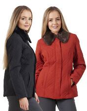 Ladies BHS Fur Collar Zip Up Casual Lined Womens Jacket
