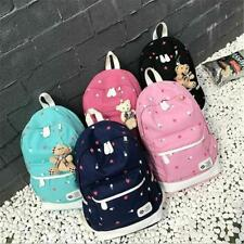 Women School Bag Set Canvas Backpack For School Laptop Books Backpack For Girls