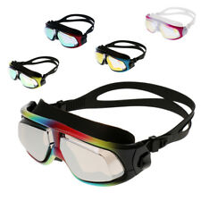 Waterproof Swimming Goggles Anti Fog UV Protection HD Swim Glasses, Large Frame