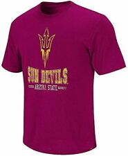 NCAA Arizona State Sundevils Maroon Spiral Short Sleeve T Shirt by Colosseum
