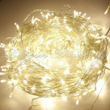 Fairy Lights Warm White Christmas 100/200/300/400/500 LED String Xmas Party