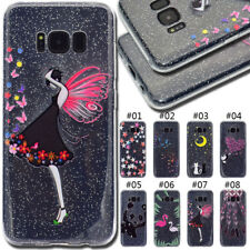 For Samsung Galaxy S8 Gel TPU Rubber Soft Skin Back Silicone Glitter Case Cover