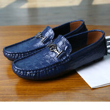 Leather US10 US12 US13 Loafer  Non-Slip Oxfords Comfy Moccasins Driving Shoes AE