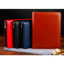 2018 Daily Planner Schedule Notebook Diary Zipper Leather Card Pen Holder Pad