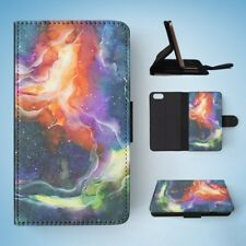 WATERCOLOR SPACE ART 14 FLIP WALLET CASE COVER FOR IPHONE 5 / 5S / 5SE