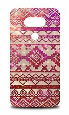 RED AZTEC GEOMETRIC PATTERN HARD CASE COVER FOR LG G5