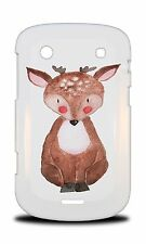 WATERCOLOR DEER REINDEER 2 HARD CASE COVER FOR BLACKBERRY BOLD TOUCH 9900