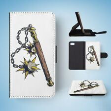 WEAPONS DRAWING MACE FLIP WALLET CASE COVER FOR IPHONE 7