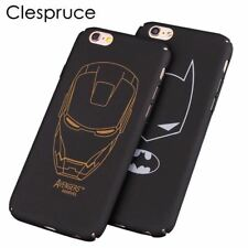 Clespruce black hard PC Ultra-thin Matte batman Phone Case Cover For Apple iPhon