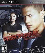 ps3 PRISON BREAK The Conspiracy Intense Action Game Playstation CIB Manual
