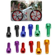 2Pcs Bike Water Bottle Cage Bolts Aluminium Alloy Hex Tapping M5*15MM Screws