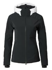 Womens KJUS SCYLLA DUCK DOWN FILLED HOODED SKI JACKET Black White 36 40 6 10 NEW