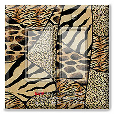 Light Switch Plate Cover Patchwork Animal Print with Rocker Switch or Outlet