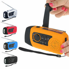 Useful Emergency Solar Crank FM Radio MP3 Player Flashlight Cell Phone Charger