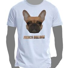 T-Shirt Shirt Cotton Size S-5XL Polygon Pressure Dog French Bulldog